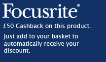 50GBP cashback on focusrite